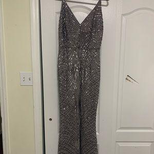 Charcoal Grey Sequin Dress